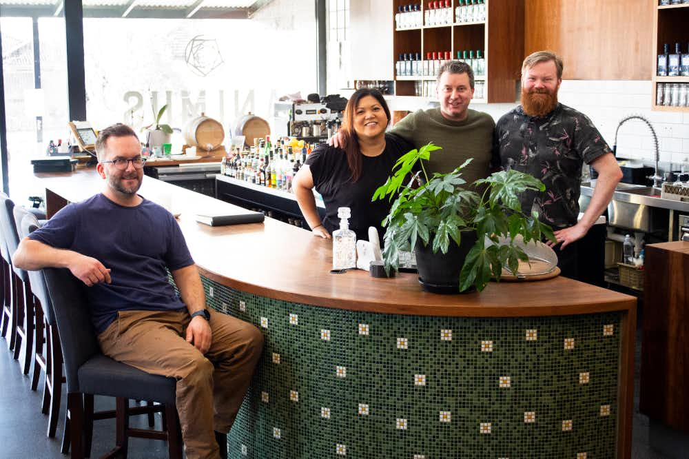 The friendly team at Animus Distillery in Kyneton