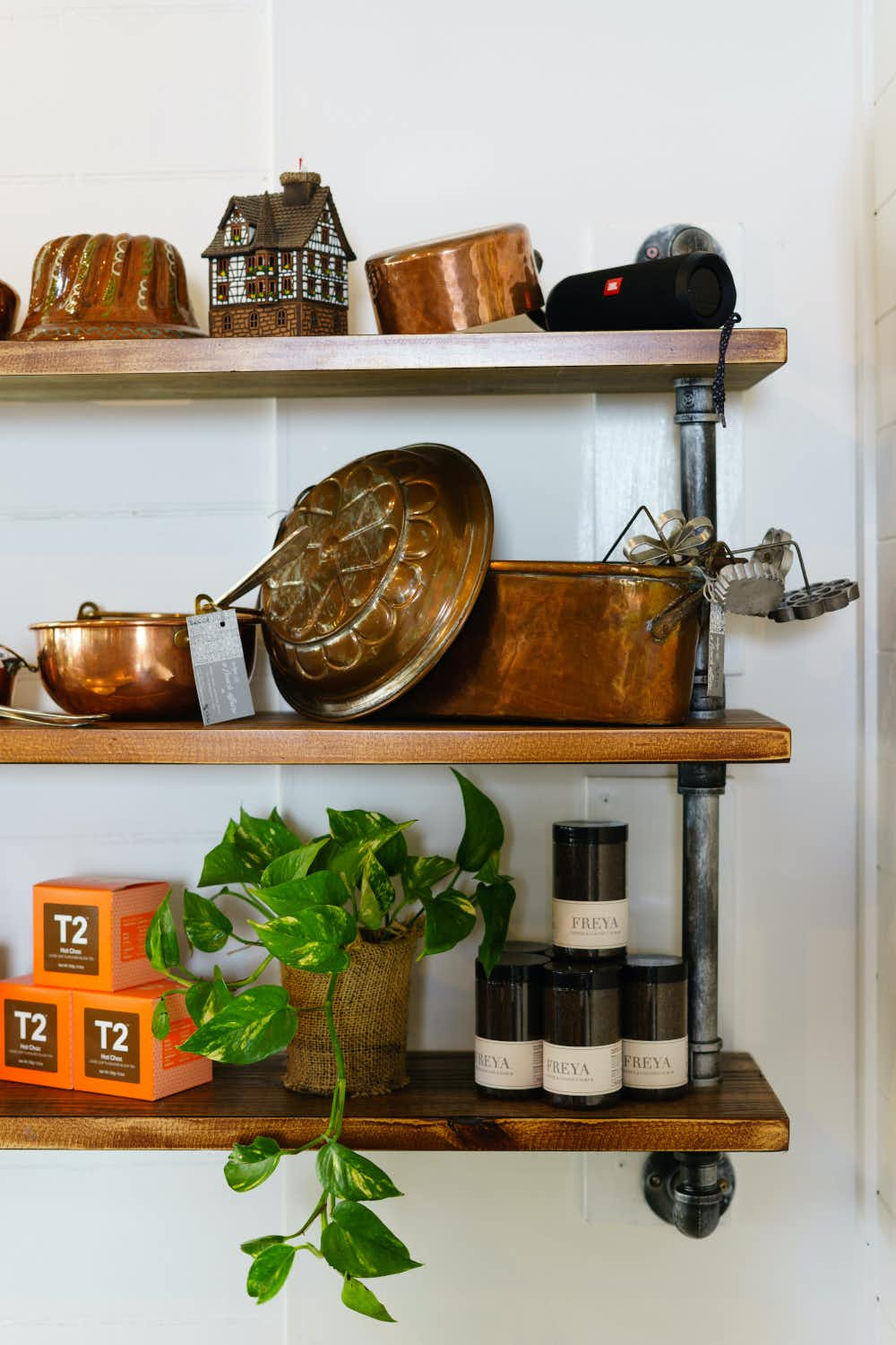 Freya Coffee And Coconut Scrub and cake moulds, Atelier Chocolat in Trentham, Victoria.