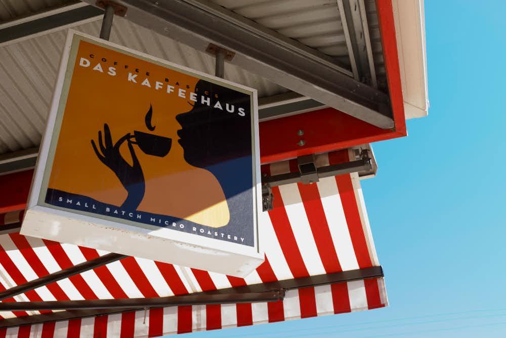 Sign at Das Kaffeehaus in Castlemaine