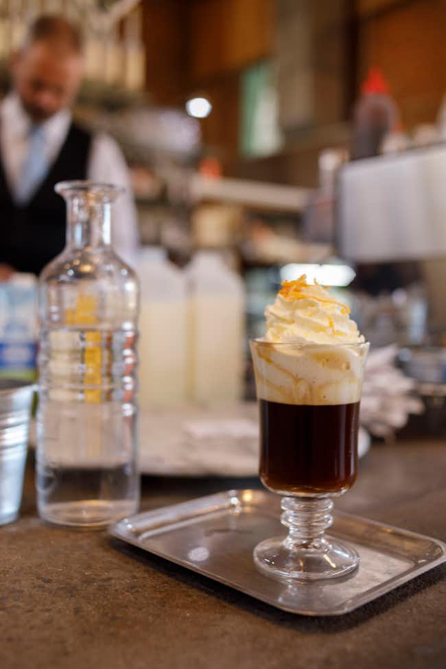 Coffee served at Das Kaffeehaus in Castlemaine
