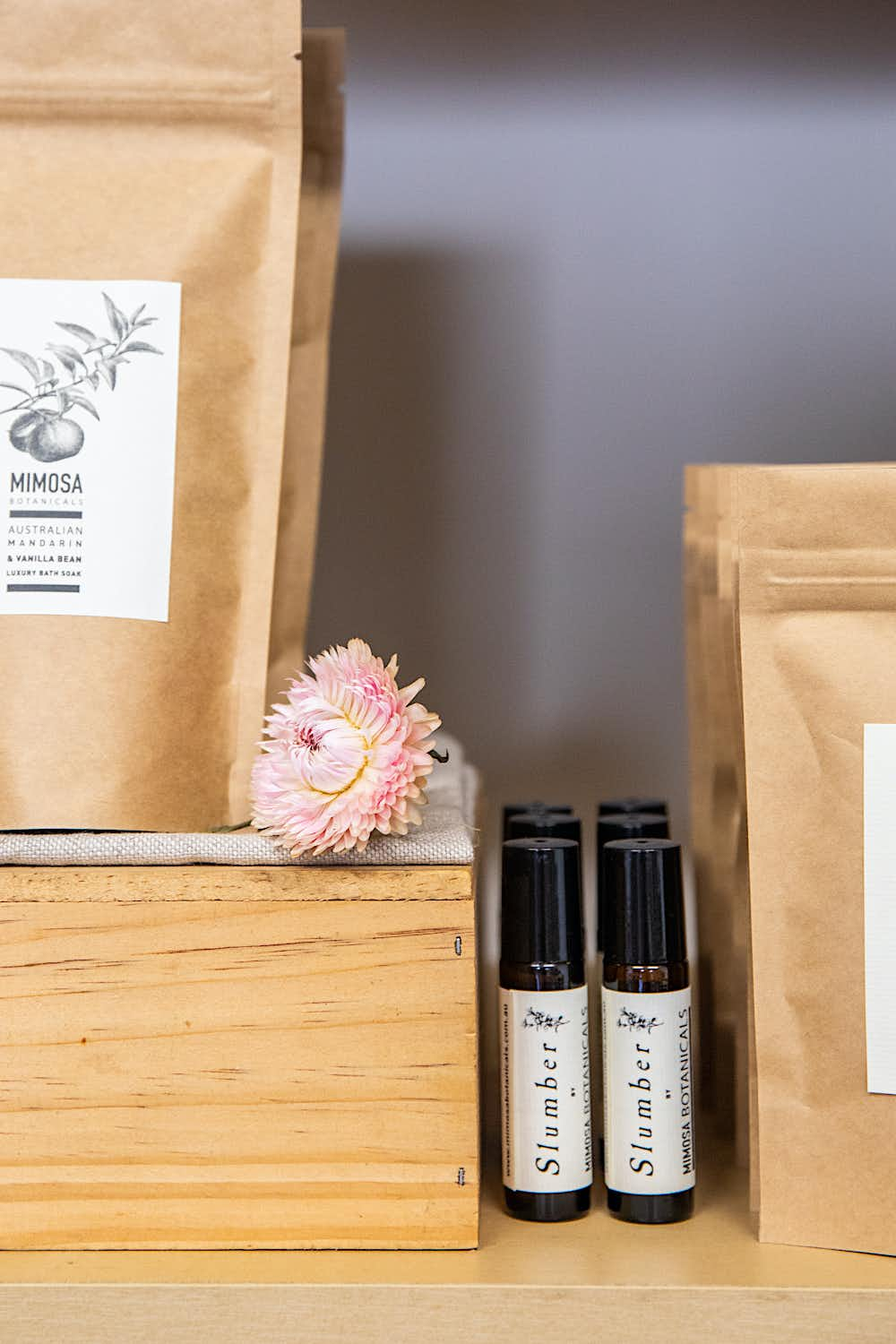 Product display at Mimosa Botanicals, Castlemaine