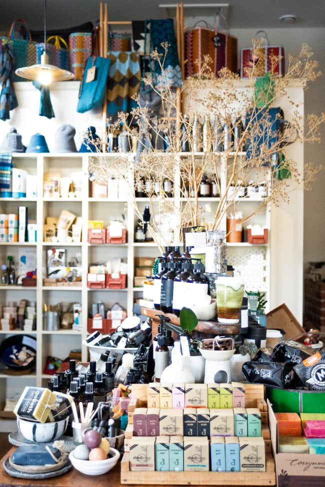 Interior of The Green Store, Trentham