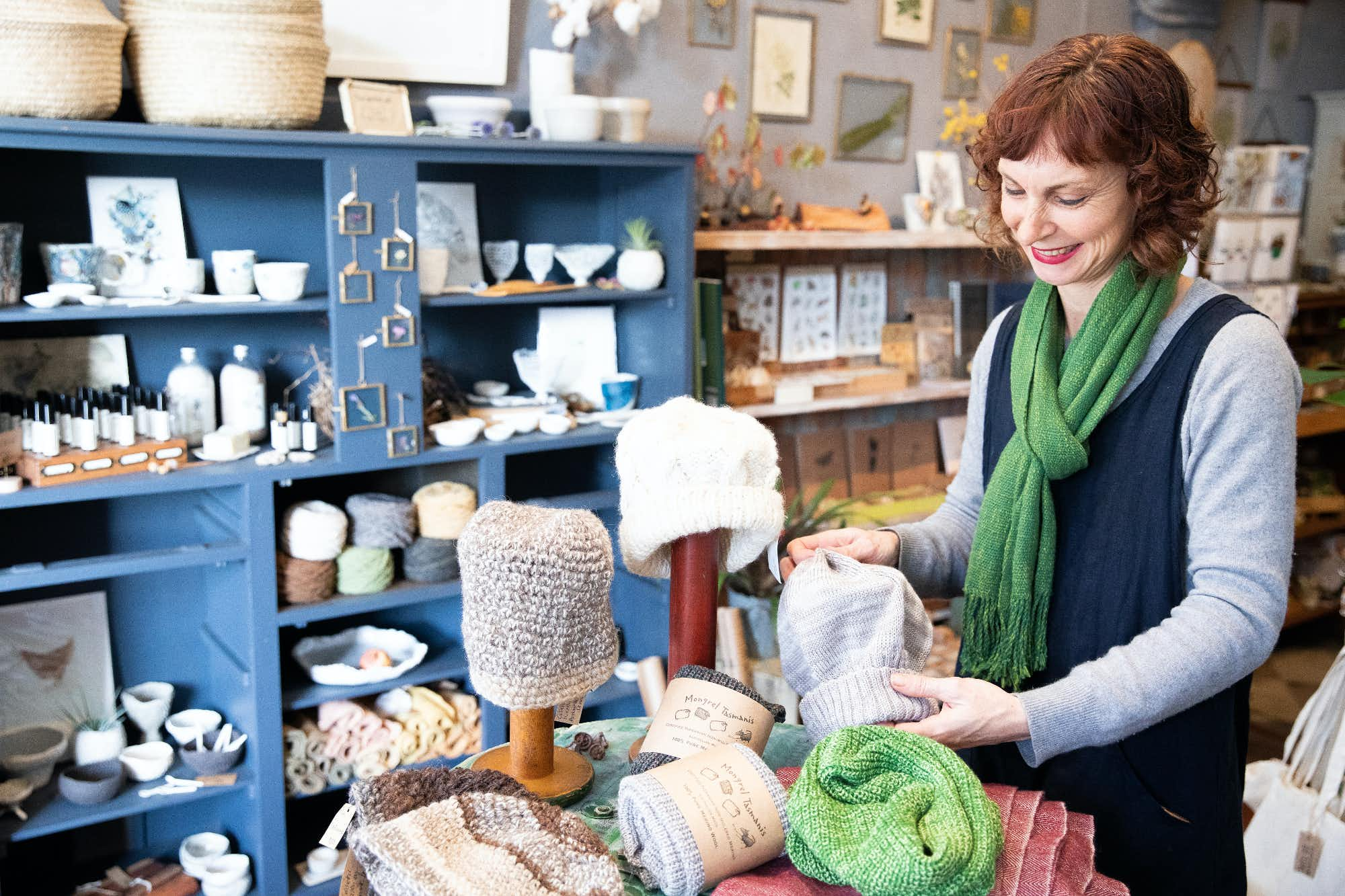 Ange Rosemann at her store, Tribe in Castlemaine