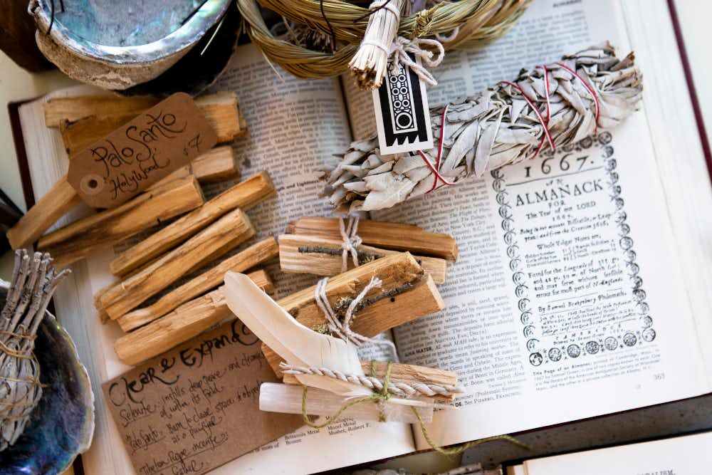 Palo Sante wood and smudge sticks for sale at We Of The Wild. Great for energy cleansing.